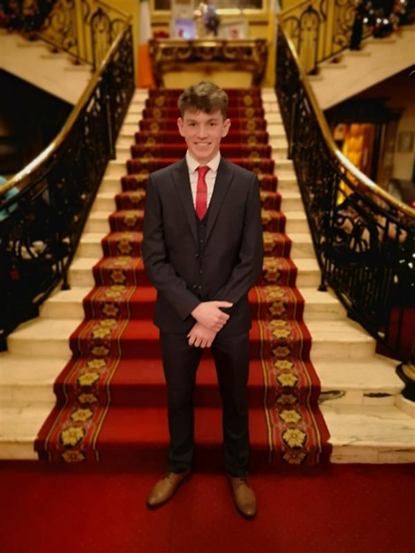 Cathal Connughton wins the 2018 Leinster Star Award in Athletics
